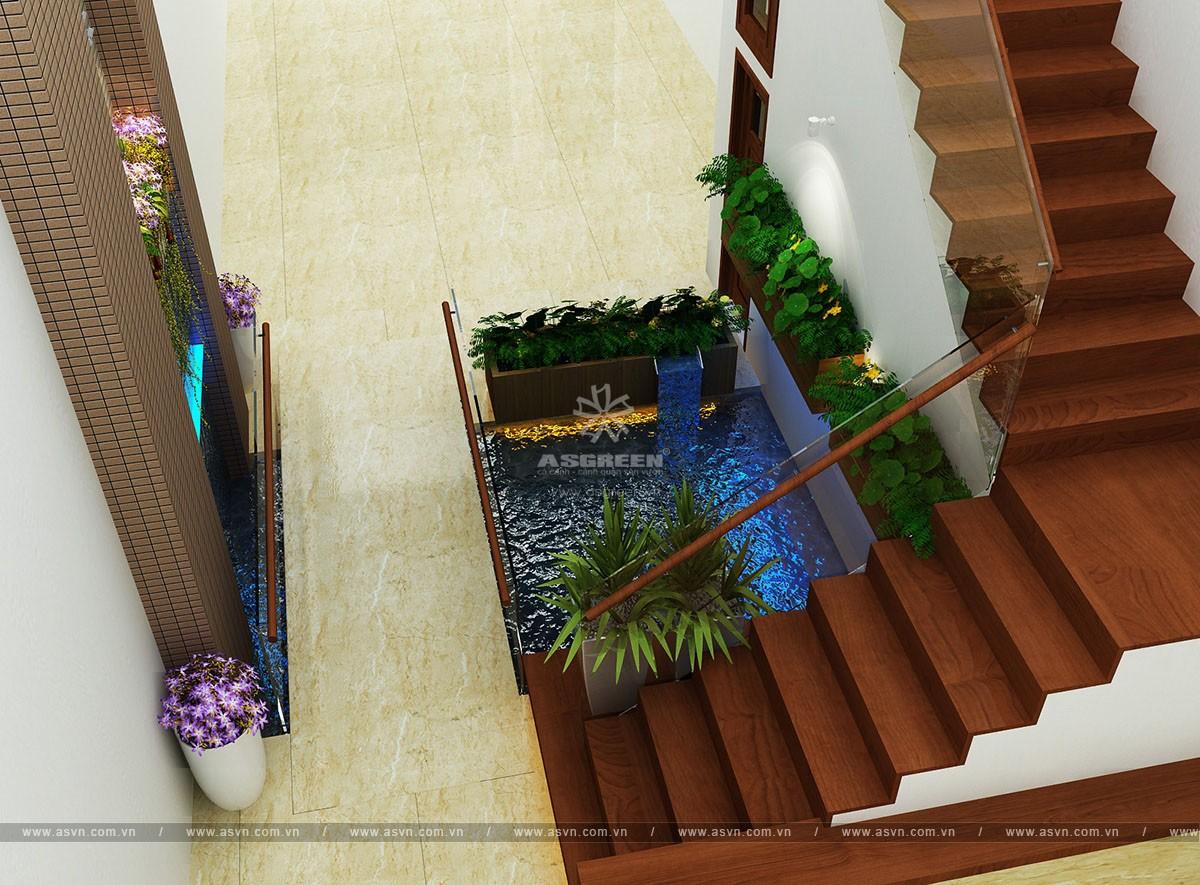 ho-koi-tieu-canh-trong-nha-mr-truong (1) Thiết kế hồ cá koi, tiểu cảnh trong nhà - Mr Trường, Hà Nội