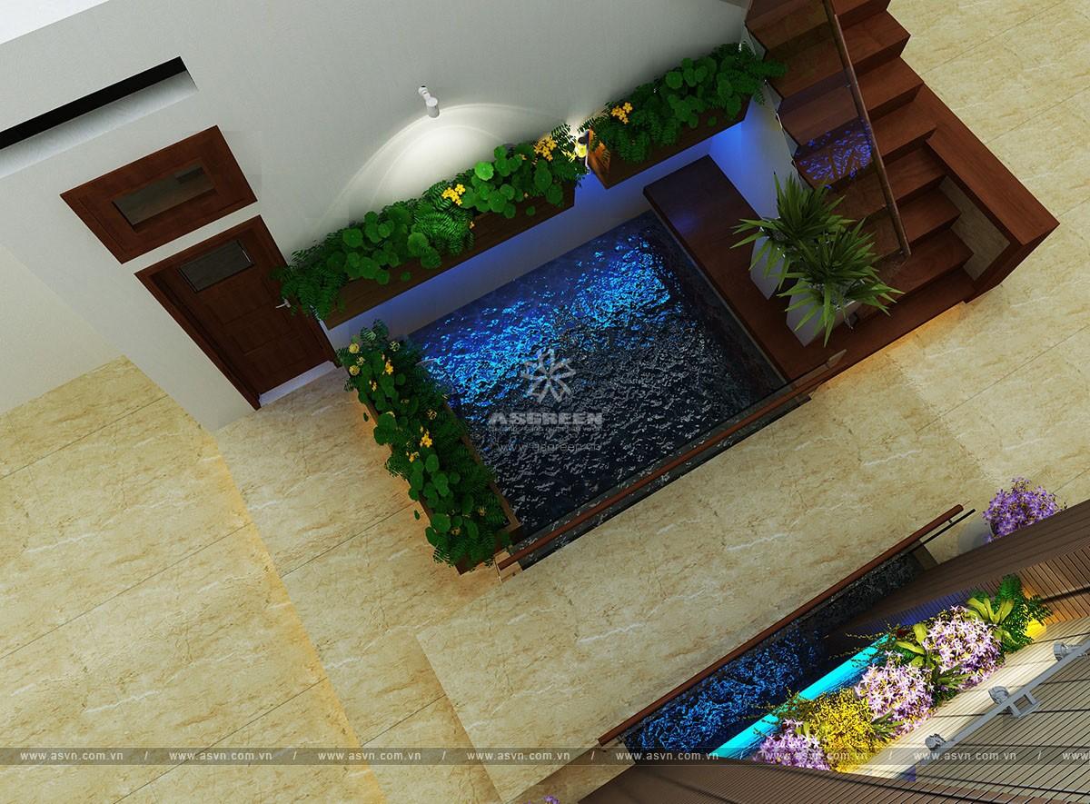 ho-koi-tieu-canh-trong-nha-mr-truong (2) Thiết kế hồ cá koi, tiểu cảnh trong nhà - Mr Trường, Hà Nội