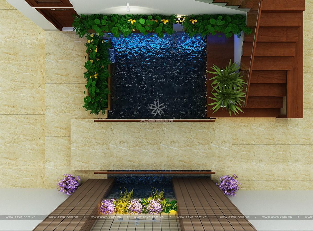 ho-koi-tieu-canh-trong-nha-mr-truong (4) Thiết kế hồ cá koi, tiểu cảnh trong nhà - Mr Trường, Hà Nội