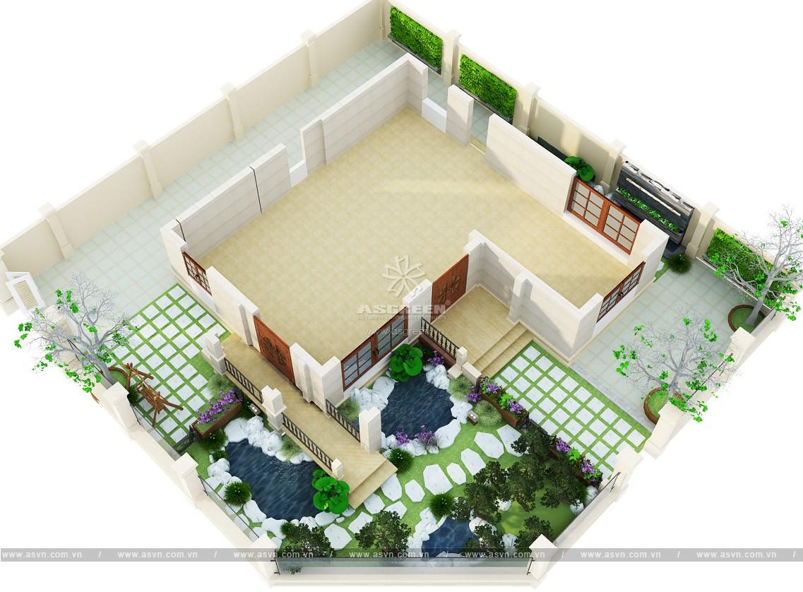 thiet-ke-thi-cong-ho-ca-koi-mr-minh-1 Thiết kế cảnh quan sân vườn, hồ Koi - Mr Minh, Linh Đàm