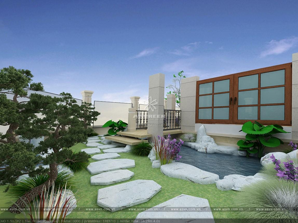 thiet-ke-thi-cong-ho-ca-koi-mr-minh-3 Thiết kế cảnh quan sân vườn, hồ Koi - Mr Minh, Linh Đàm