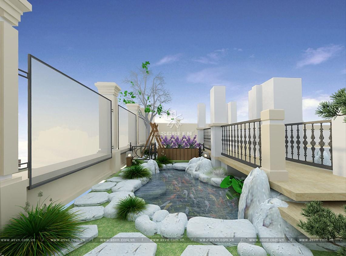 thiet-ke-thi-cong-ho-ca-koi-mr-minh-4 Thiết kế cảnh quan sân vườn, hồ Koi - Mr Minh, Linh Đàm