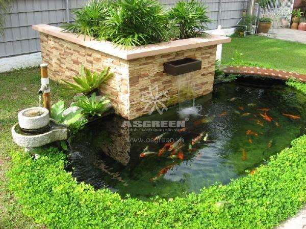 Thiết Kế Tiểu Cảnh Sân Vườn Hồ Koi ấn Tượng