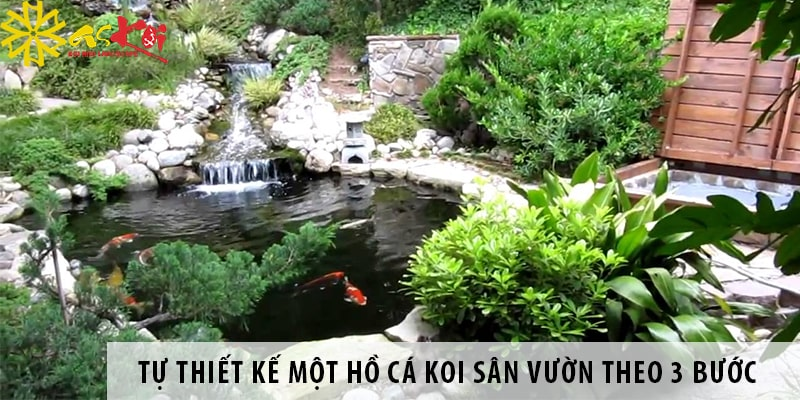 Tự Thiết Kế Một Hồ Cá Koi Sân Vườn Theo 3 Bước