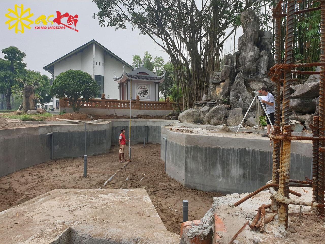 Bê Tông Hóa Hồ Koi 280m3