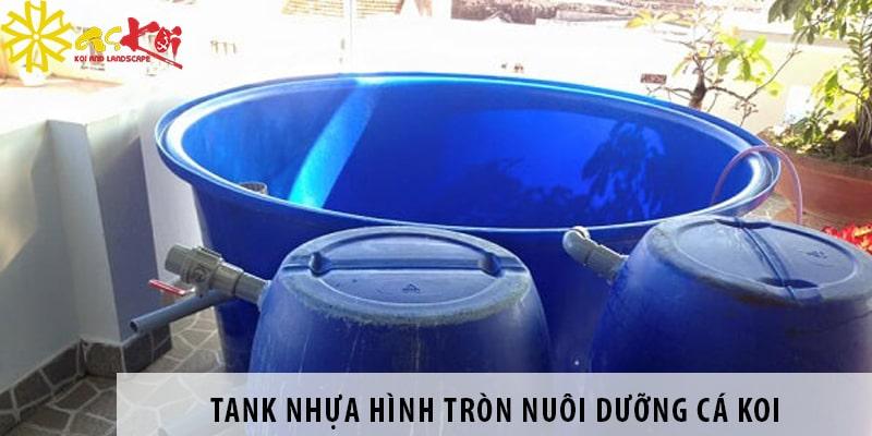 Tank Nhựa Hình Tròn Nuôi Dưỡng Cá Koi