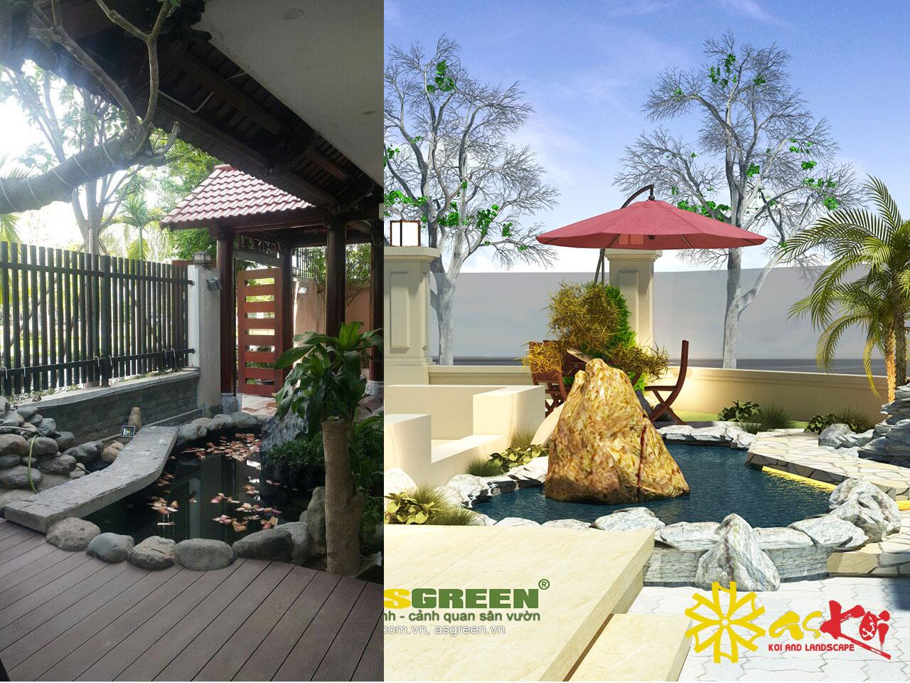 Hồ Koi Hoàn Thiện Và 3D Theo ý Chủ Hồ