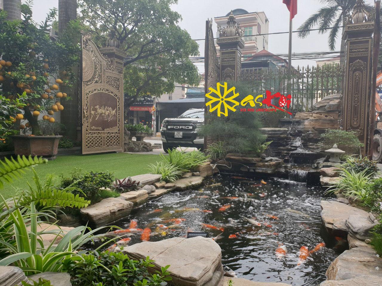 Hồ Koi Ngoài Trời Biệt Thự Đông Anh Hà Nội