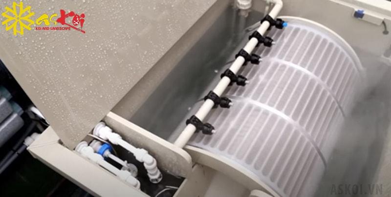 Hoạt động của thùng lọc Drum Filter