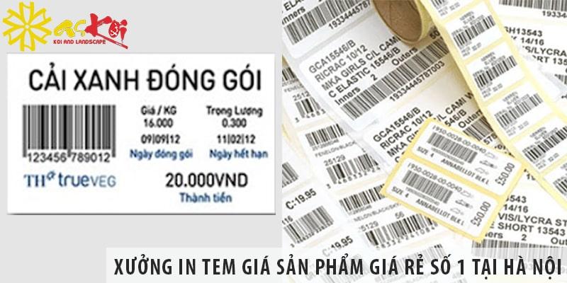 Xưởng In Tem Giá Sản Phẩm Giá Rẻ Số 1 Tại Hà Nội