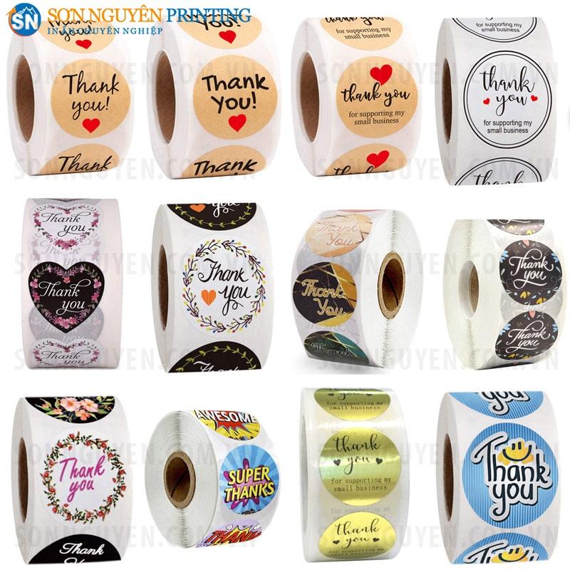 Một số mẫu tem dán quà tặng phổ biến trên thị trường